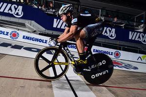 Maximilian Levy bei den Bremer Sixdays. Foto: Event & Sport Nord GmbH (ESN) / Arne Mill